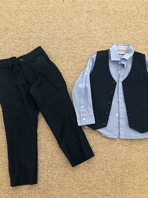 Next Signature Boys Blue waistcoat And Shirt - Free Trousers All Age 3 Years