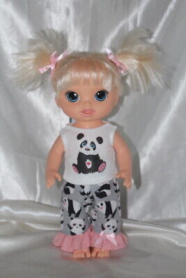 Dress Outfit fits 12inch Baby Alive Doll Clothes Hearts Panda