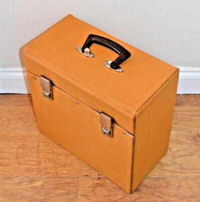 Vinyl LP Record Case Mustard Yellow Vintage Retro 70's Storage