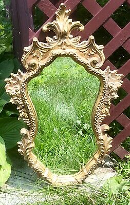 Vintage Carolina Mirror Co Wall Ornate Gold Frame Hollywod Regency French Rocco
