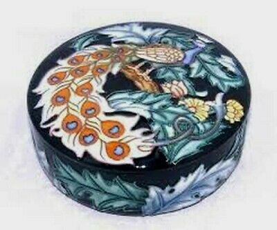 ** OLD TUPTON WARE Trinket Box NAVY PEACOCK Design - NEW BOXED **