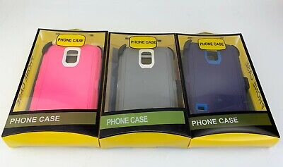 For Samsung Galaxy S5 Case w/Screen Built In(Belt Clip Fits Otterbox Defender)