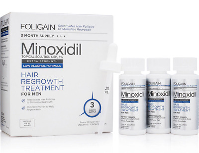 Foligain Low Alcohol 5% Hair Regrowth Treatment for Men 3 Month Supply