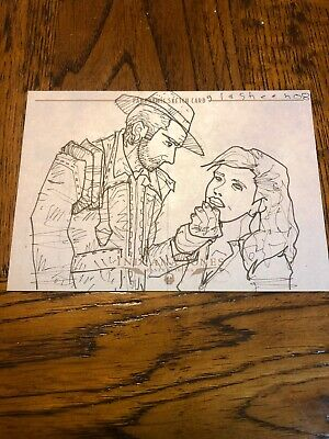 Indiana Jones Masterpieces (topps) Panoramic Sketch By Kate Glasheen