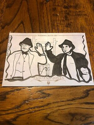 Indiana Jones Masterpieces (topps) Panoramic Sketch Card By Denise Vasquez 1/10