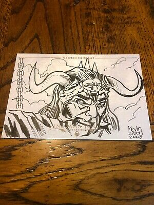 Indiana Jones Masterpieces (topps) Panoramic Sketch Card By Kevin Caron 1/20