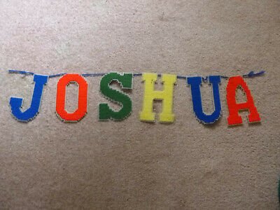 Joshua Personalized Wall Hanging, Letters, Name, Childrens, Bedroom
