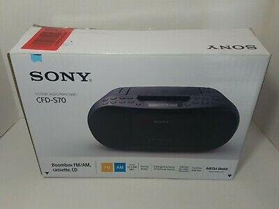 Sony CFD-S70 CD Cassette Tape Player AM/FM Radio Boombox /w Box and Manual