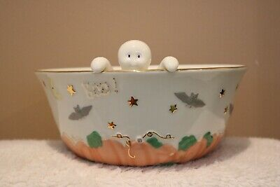 """Lenox China """"Ghostly Surprise"""" Halloween Serving Bowl NIB with COA"""