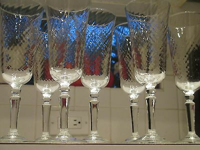 Optic Footed Angelique CHAMPAGNE/PARFAIT Glass FLUTES FRANCE