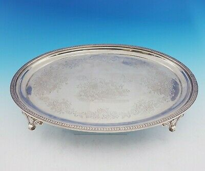 Ball, Black and Co Sterling Silver Salver Tray Oval Footed w/ Shell Feet (#3530)
