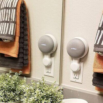 Wall Mount Holder For Google Home Mini With Cord Arrangement Hidden Wires uB