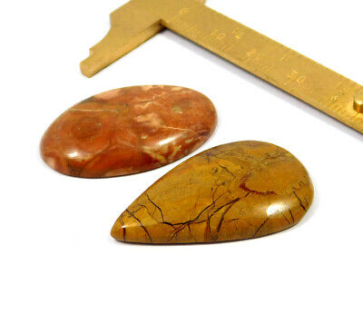 57 Cts. 100% Natural Camel Jasper Lot Loose Cabochon Gemstone NG21071