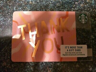 Collectable Starbucks Thank You Pink Gift Card 6156..No Monatary Value