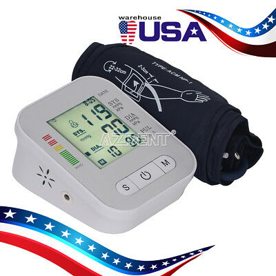 Upper Arm Cuff Blood Pressure Monitoring Irregular Heart Beat Detection Function