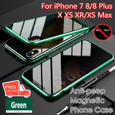 Anti-peep Magnetic Phone Case FOR (Double Side) iPhone 7 8/8Plus X XS XR/XS Max