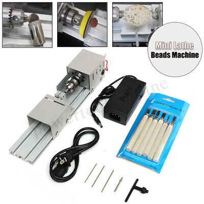 100W Mini Lathe Beads Machine Polisher Table Saw Woodworking DIY Wood  UK