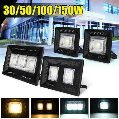 30/50/100/150W LED Flood Light Outdoor Security Garden Landscape Lamp Waterproof