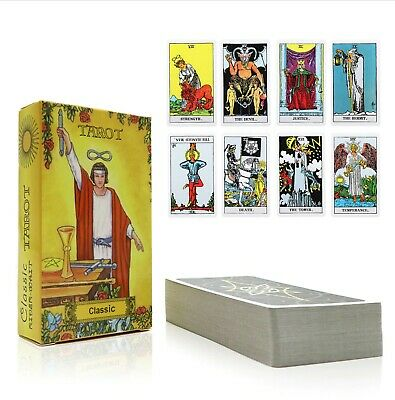 X78 Classic English Universal Tarot Rider Cards Waite Deck illustration Smith