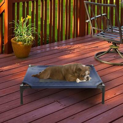 Elevated Pet Bed-Portable Raised Cot-Style Bed W/Non-Slip Feet Medium, Blue