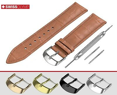 Fits EMPORIO ARMANI BROWN Genuine Leather Watch Strap Band For Clasp Buckle Pins