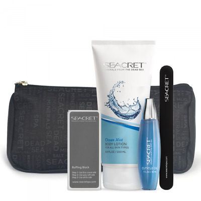 SEACRET Nail Care Kit + Body Lotion 200ml with Dead Sea Minerals - Ocean Mist
