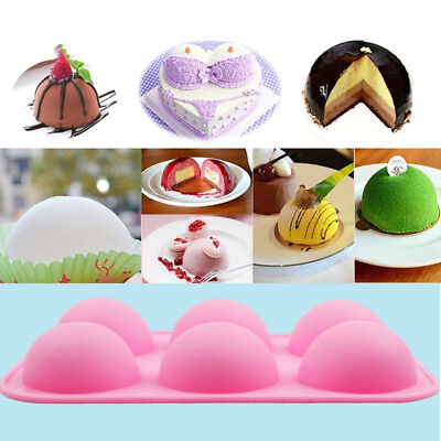 Silicone Soap Chocolate Molds Cake Baking Tool  Pastry Mould round shape 6hoBX