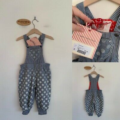 Sz 2 (Generous) Paper Wings Vintage Shaded Spot Overalls