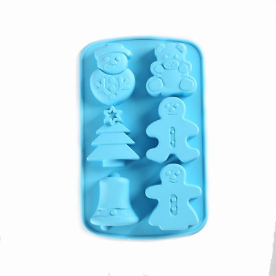 KALAIEN 6 Cavities Christmas Silicone Soap Mold Cake Baking DIY Muffin Cups
