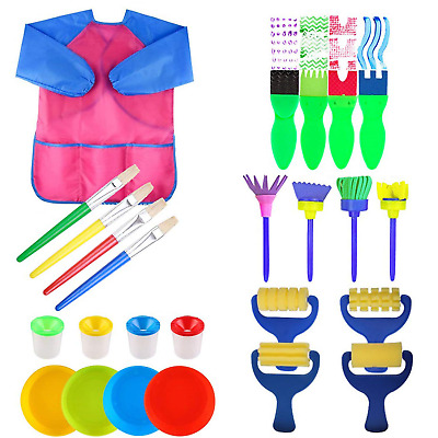 25 Pieces Kid Paint Sponge Brushes Foam Drawing Tool Early Education Aids, &