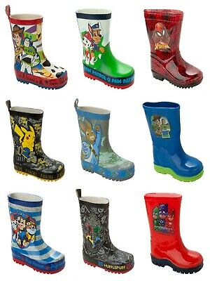 Boys Official Character Wellies Wellington Rain Snow Welly Boots Childrens Size