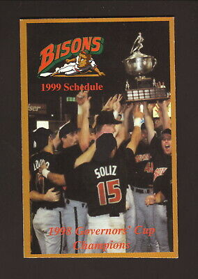 Buffalo Bisons--1999 Pocket Schedule--Ford--Indians Affiliate