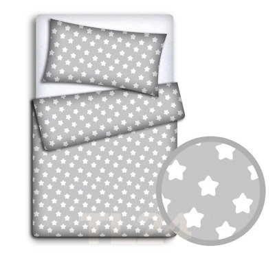 DUVET COVER 2PC TO FIT COT BABY BEDDING SET PILLOWCASE Fox grey