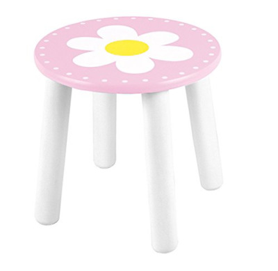 Children's stool with picture flower pink/white