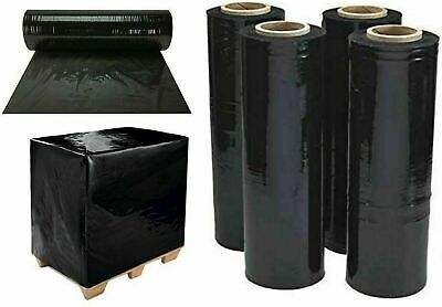 20 x Pallet Wrap Stretch Shrink Wrap Packing Wrap Cling Film Black Roll 400mm UK