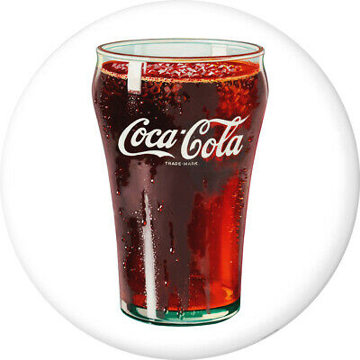 Coca-Cola Bell Glass Disc Decal 24 x 24 White Removable Decor Graphic