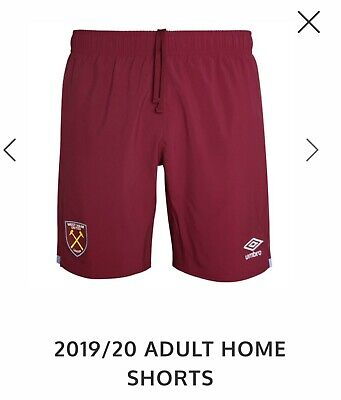 Umbro Official Mens West Ham United FC Home Football Shorts Bottoms 2019-20.