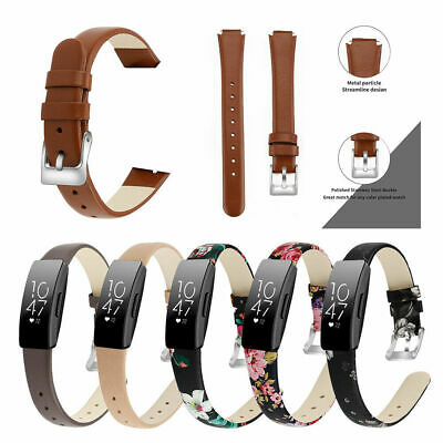 Replacement Leather Wristband Strap for Fitbit Inspire/ Inspire HR Bracelet Band