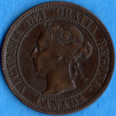 Canada 1900 1 Cent One Large Cent Coin - Very Fine
