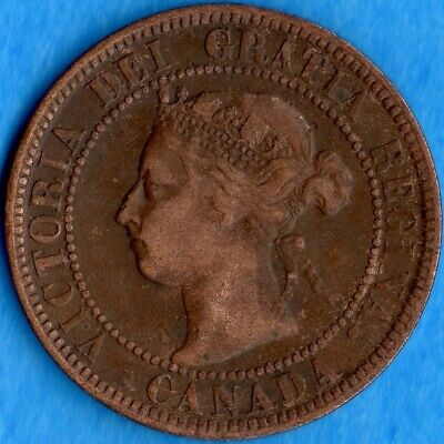 Canada 1900 1 Cent One Large Cent Coin - Cleaned