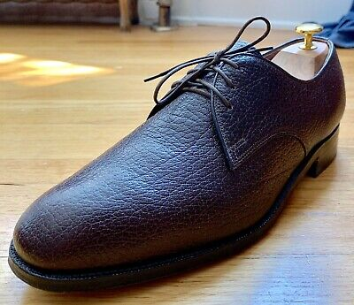 bb6be622fb2a0 DACK'S CUSTOM GRADE Exotic Water Bison/Buffalo Brown Pebbled Derby Shoes  9.5D