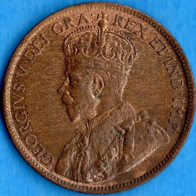 Canada 1914 1 Cent One Large Cent Coin - EF/AU