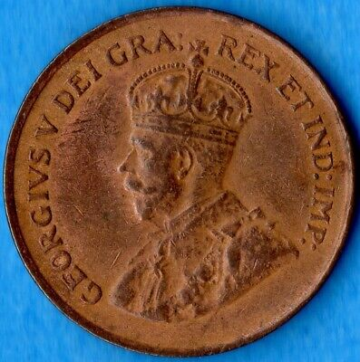 Canada 1920 1 Cent Small Penny Coin - AU