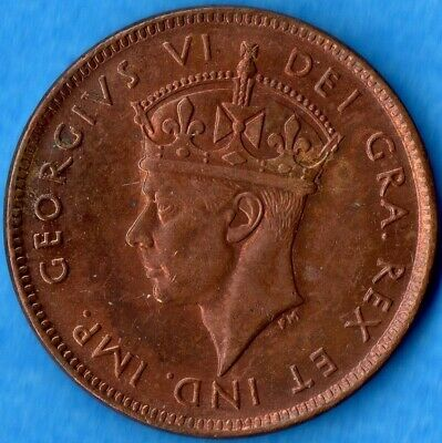 Canada Newfoundland 1943 c 1 Cent Small Penny Coin - Uncirculated+