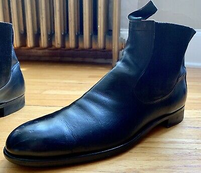 ae5f11447c46b MENS VINTAGE DACK'S Black Leather Formal Loafer Shoes - Size 10.5E ...