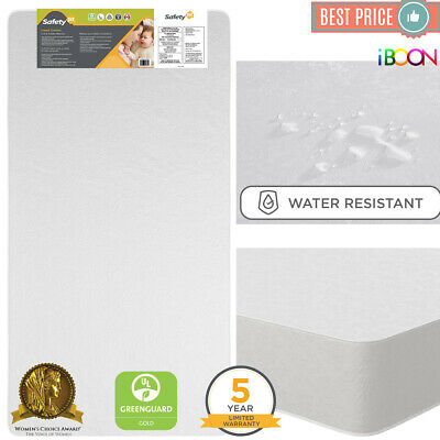Safety 1st Baby Crib Mattress Toddler Bed Waterproof Thermo Bonded Sweet Dreams