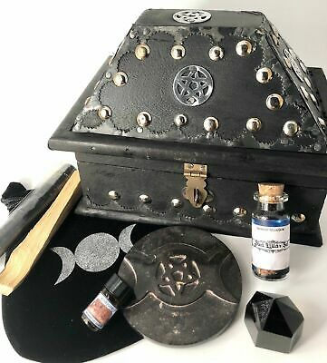 Pagan, Wicca Supply Witchcraft Box Apothecary Kit With Ritual Oil For Spells