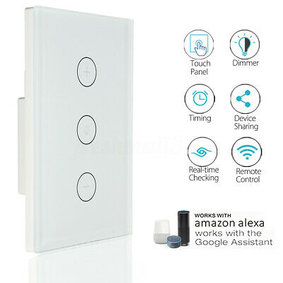 WIFI Smart Dimmer Light Wall Switch Touch Automation For Echo Alexa Google
