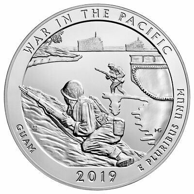 2019 25C 5 oz Silver ATB War in Pacific National Park (Guam) GEM BU SKU58831