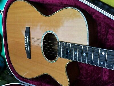 David Oddy Cutaway Acoustic Guitar Excellent Condition With  Hiscox Case